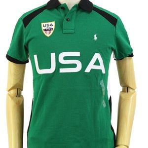 2XL Polo Ralph Lauren LXVLL USA Green White Blue